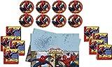 Motto Party Geburtstag Feier Dekoration Set: Servietten Tischdecke große Teller 29 Teile für 8 Kinder - Spiderman