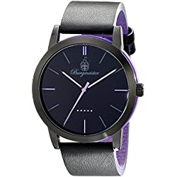 Burgmeister Ibiza Men's Quartz Watch with Black Dial Analogue Display and Black Leather Strap BM523-623B-1