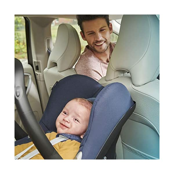 Maxi-Cosi CabrioFix Baby Car Seat Group 0+, ISOFIX, 0-12 Months, Frequency Blue, 0-13 kg Maxi-Cosi Baby car seat, suitable from birth to 13 kg (birth to 12 months) Side protection system for optimal protection against side impact Extra comfortable head support thanks to extra padding 9