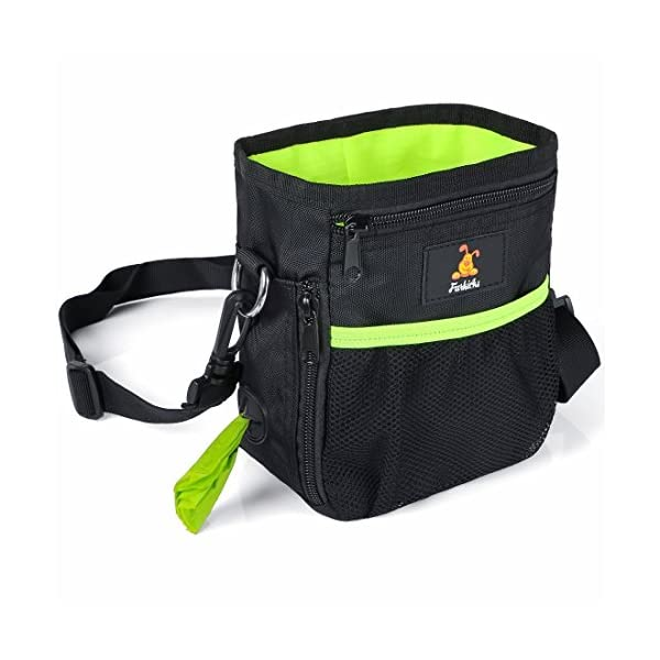 e47ba79479c9 Furkicks Dog Treat Bag Built-In Poo Waste Bags Dispenser, Handy Drawstring  Puppy Training Walking Pouch with Clip Waist Belt