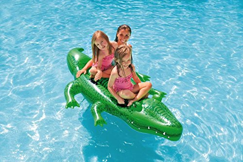 Intex Childrens Large Inflatable Ride On Alligator With Four Grab Handles #58562