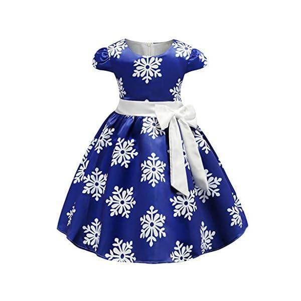 K-Youth Vestido Niña Navidad Copo de Nieve Estampado Vestido Princesa Niña Tutú Ropa Bebe Niña Bautizo Vestidos de… 1