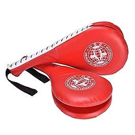 Colpitori Taekwondo Doppio Strato di Progettazione, 1 paio Taekwondo Kick Pad Target per Formazione Punzonatura Boxe Karate