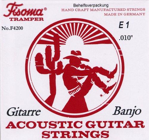 Fisoma F4200 | Saiten für 6-Saiter Gitarren-Banjo | Tramper | NEU