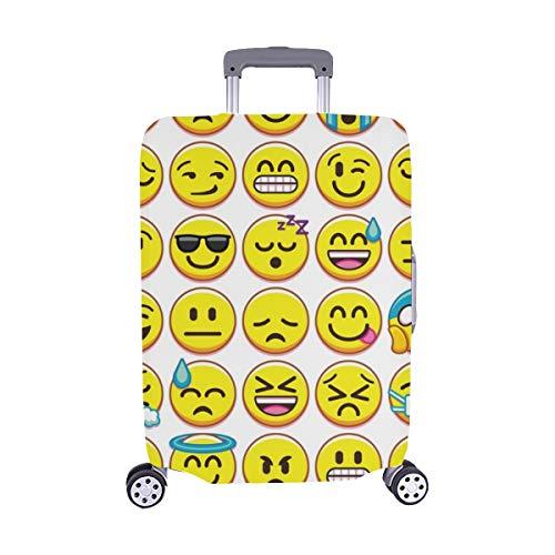 (Nur abdecken) Legen Sie Verschiedene Emojis, die auf Spandex-Staubschutz Trolley Protector case-Koffer isoliert sind, auf