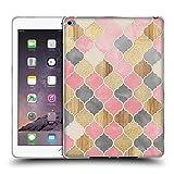 Offizielle Micklyn Le Feuvre Silber Grau Soft Rosa Holz Und Gold Marokkanische Muster Quatrefoil 2 Soft Gel Hülle für Apple iPad Air 2