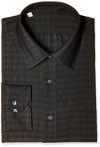 Raymond Men's Formal Shirt (8907116436230_RPSX00070-K8_42_Black)