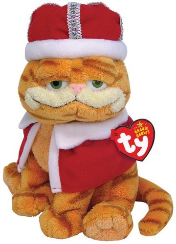 Ty UK Beanie Baby - His MajesTy UK King Garfield Soft Toy