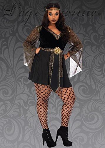 Plus Schwarze Kostüme Ritter Size (Womens Plus Size Warrior Prinzessin Ritter Kostüm 1X/2X (UK)