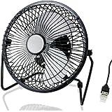 CSL - Ventilador USB   ventilador de mesa/ventilador   carcasa/aspas de metal   PC/portátil   en negro