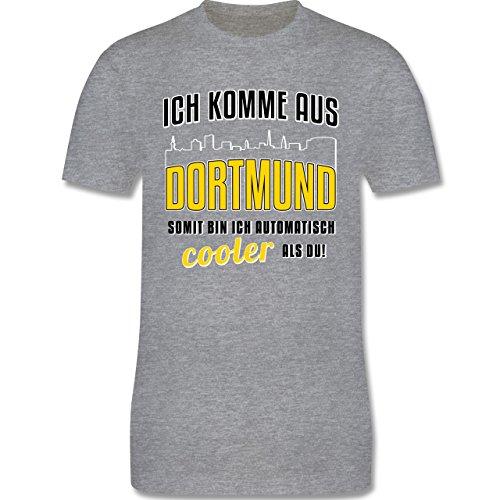 Städte - Ich komme aus Dortmund - Herren Premium T-Shirt Grau Meliert