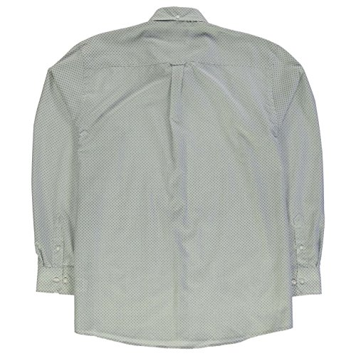Pierre Cardin Hommes Xl Manches Longues Motifs Chemise Top Haut Casual A Boutons Blanc/Bleu Marine Geo