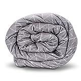 Couverture lestée Rocabi pour adulte - 152x203cm - 6,8-11,34kg, polyester & polyester mélangé, gris, 25 lbs