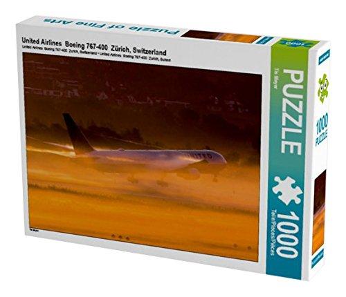 united-airlines-boeing-767-400-zurich-switzerland-1000-teile-puzzle-quer-calvendo-mobilitaet