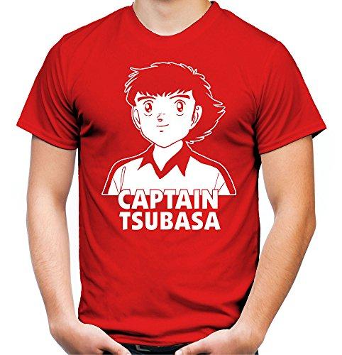 Captain Tsubasa Männer und Herren T-Shirt | Nankatsu Manga Fußball Geschenk Schwarz