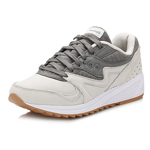 Saucony Light Gris/Dark Gris Grid 8000 Zapatillas, Light Gris/Dark Gris, 44 5