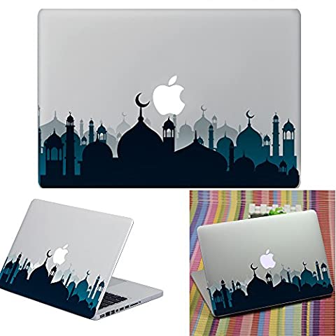 Macbook Aufkleber Abziehbild, YUDA Tech Abnehmbar Stadtnacht Entwurf Vinyl Decal Haut Stickers Passt Perfekt f¨¹r Laptop MacBook Air/Pro/Retina 13 15 Zoll