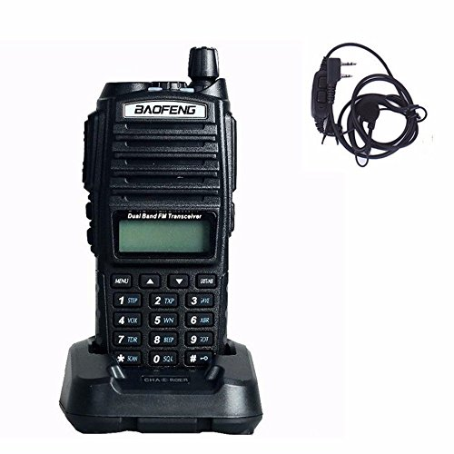 BaoFeng UV-82 Dual-Band 136-174/400-520 MHz FM Ham Two-way Radio, Transceiver, With free earpiece UV82 (Radio-transceiver)