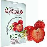 3 Packungen Crispy Crisps Fruchtsnack Erdbeere a 18 g gefriergetrockneter Snack