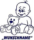 INDIGOS UG - Babystrampler / Strampler 057 mit Wunschname / Wunschtext schwarz 86/92