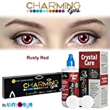 #7: Charming Eyes Zeropower Rusty Red Color Daily (1 Day) Disposible Contact Lens with Free Lens Care Kit (12 Lens Pack) By Lens4Eye