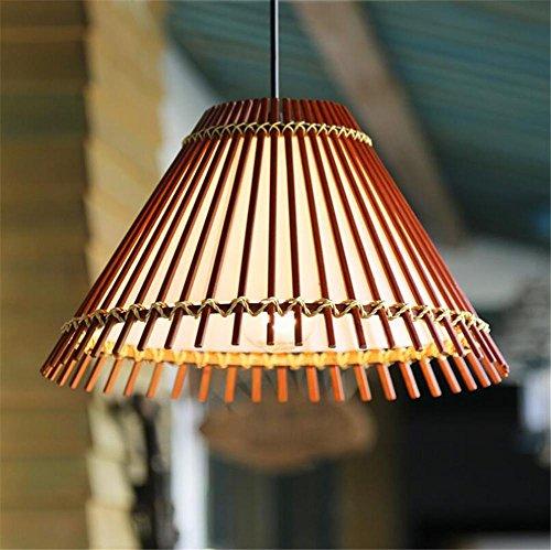 BIUODY Lampadari Retro stile pastorale di bambù lampadario a sospensione Camera luci di soffitto soggiorno (High Country 9 Lampadario)