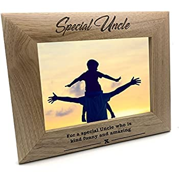 ukgiftstoreonline Best Brothers Promoted To Uncle Wooden Photo Frame Gift 5 x 7 Inch