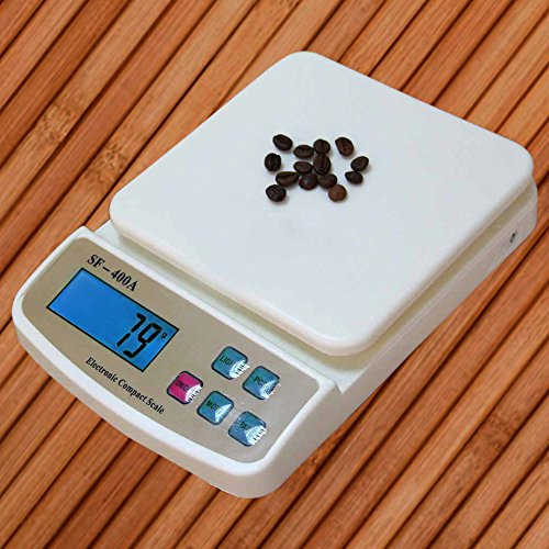 Atom SF-400A-Multipurpose Digital Kitchen Weighing Scale with Max Capacity, Off White, 10kg