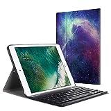 Fintie Bluetooth Tastatur Hülle für iPad 9.7 Zoll 2018 2017 / iPad Air 2 / iPad Air - Ultradünn leicht Ständer Keyboard Case mit magnetisch Abnehmbarer drahtloser Deutscher Tastatur, DieGalaxie