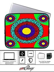 meSleep Pink Printed Laptop Sleeve With Webbing Handle