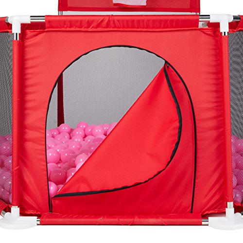 Baby Playyard Tents Infant Playpens Safety Household Protective Fence Assembled House Play Yard Red dreamdream
