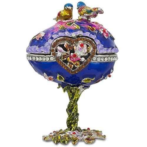 4Uccelli Jeweled Faberge stile russo Uova di (Smalto Jeweled Trinket)