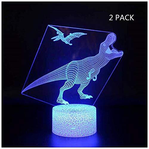 Touch Button Dinosaurier Form Optisch Neben Licht, USB Charge 7 Farben Fernbedienung Nachtlicht für Kinder Halloween Geburtstagsgeschenk