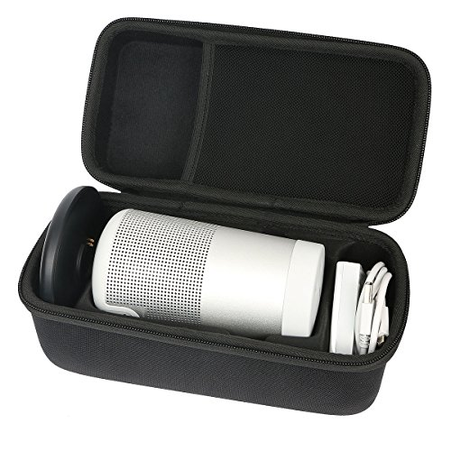 Khanka Dur Cas étui de Voyage Housse Porter pour bose soundLink Revolve Enceinte Bluetooth S'adapte Socle