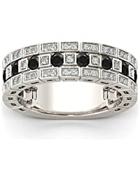 Naitik Jewels 925 Sterling Silver Squre Shape Wedding & Engagement Diamond Ring For Men