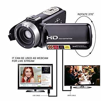 Camera Camcorders,camking Hdv-301m 1080p 16x Digital Zoom 3 Inch Touch Screen Lcd Video Camcorder With External Microphone 1