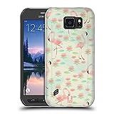 Head Case Designs Lotusteich Fab Flamingo Soft Gel Hülle für Samsung Galaxy S6 Active