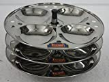 FERUM IDLY STAND SMALL 3 PLATES. PLATE d...