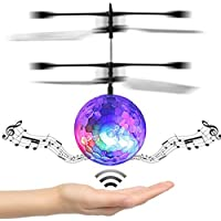 Price comparsion for RC Flying Ball, The Best Toys for Kids and Boys - Remote Control RC Drone Helicopter Ball Disco Music With Rainbow Shinning LED Lighting