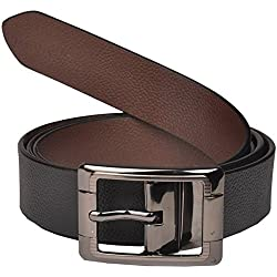 Saugat Traders Men's Belt (St0002390-34,Black, Brown,34)