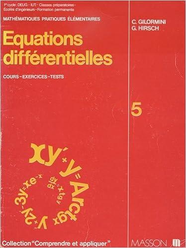 Livres Équations différentielles pdf, epub ebook