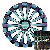 KandyDip® Sprühfolie NEOCHROME Pearl Flüssiggummi Felgenfolie Spraydosen Sets+2K, (1x Basis +1x Effekt, Matt)
