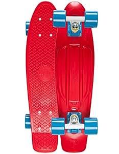 RED PENNY BLUE & WHITE TRUCKS BLUE WHEELS 2013 MODEL