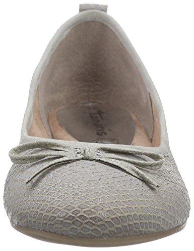 Tamaris Damen 22105 Geschlossene Ballerinas Grau (Cloud Struct. 226)