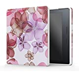 MoKo Kindle Oasis Funda - Ultra Slim Lightweight Smart-shell Stand Cover Funda para Amazon New Kindle Oasis 8th Generation 2016 Version, Floral Violeta