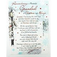 Loving Memory Dear Grandad Grave Card Christmas Decorations Memorial Remembrance