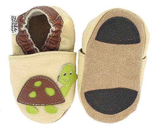 Hobea Germany  Lauflernschuhe Schildkröte, Chaussures et chaussures pour bébé mixte bébé Beige (beige)