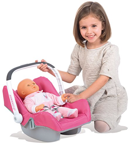 Preisvergleich Produktbild Smoby 7600240224 - Puppen-Autositz Maxi-Cosi, Rosa/Grau