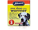 Johnsons Easy One Dose Dog Wormer Lge Dogs x 4 Tablets