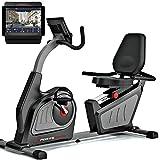"""Sportstech Cyclette ergometro reclinabile ES600 - Controllo App Smartphone Display 5,5"""" - Volano da 14kg, 16 Livelli di Resistenza - Trasmissione a Cinghia - Supersilenzioso - Sistema autogenerante"""